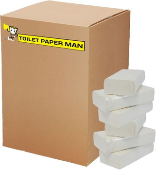 Toilet Paper Interleaved - 1ply 500 Sheets per Pack - 36 Packs of Interleaved Toilet Paper - Buy Bulk toilet paper online.
