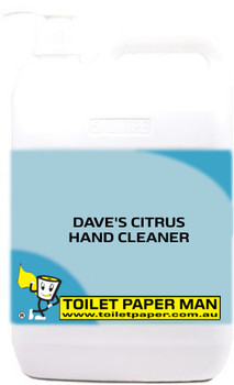 Toilet Paper Man - DAVE'S CITRUS HAND CLEANER - 5 Litre - Buy your chemicals online