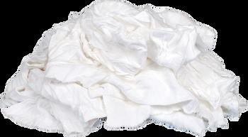 White Knit Rags - 15 kilo bags  x 5 bags