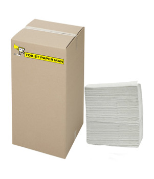 White Interleaved 2 ply Paper Towel - Small 23 x 24cm - 2400 Sheets per Carton - Buy Innterleaved Paper Towels Online