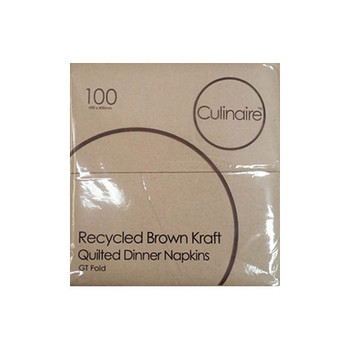 GT Fold Brown Quilted Serviettes - 1000 Sheets per Carton - 5 Cartons
