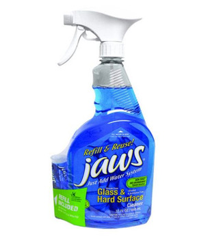 Jaws Glass & Hard Surface Cleaner/Degreaser - 946 ml - 6 Bottles Per Box - 1 Box