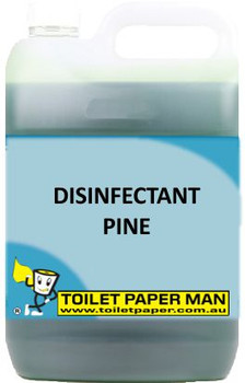 Toilet Paper Man - Disinfectant Pine - 5 Litre - Buy your chemicals online. A pleasant pine fragrance, which deodorises, cleans and disinfects in one action. It is a quaternary based disinfectant with excellent deodorising properties. Safe on all surfaces