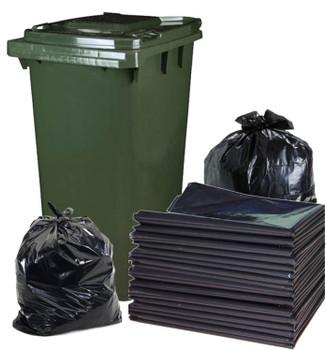 Garbage Bags - 120 Litre Bag - 950mm x 1100mm - 50 Bags