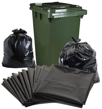 Garbage Bags - Super Heavy Duty - 240 Litre Bag - 580mm x 570mm x 1450mm - 100 Bags