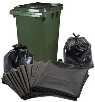 Garbage Bags - Super Heavy Duty - 240 Litre Bag - 580mm x 570mm x 1450mm - 50 Bags