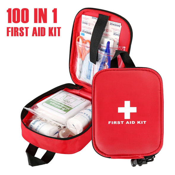 First Aid Kit 100 PC Emergency Home Travel Bag