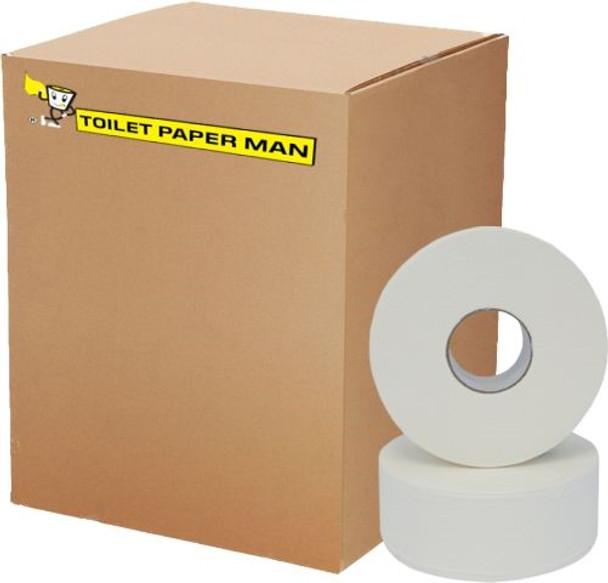 Jumbo Roll Toilet Paper - 1ply 500 Metre Roll - 8 Rolls