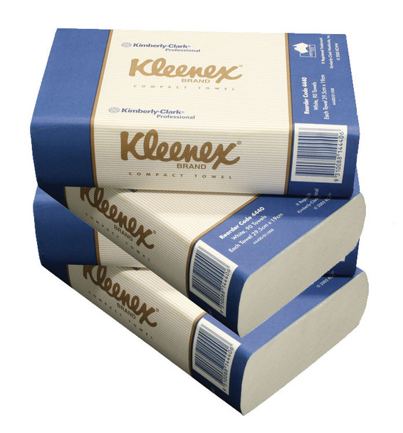 Kleenex 4440 Interleaved Towels - 19.5 x 29.5cm - 90 Sheets per Pack - 24 Packs