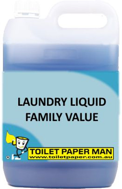 Toilet Paper Man - Laundry Liquid - Family Value - 5 Litre - Buy your chemicals online
