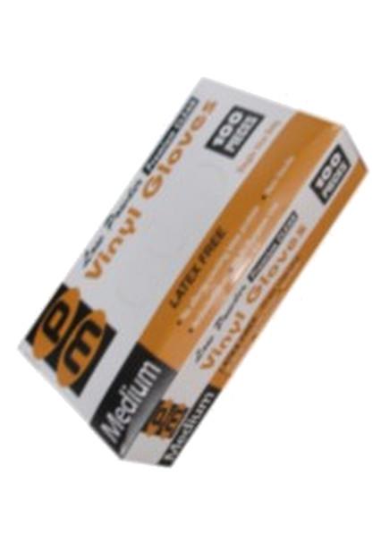 Disposable Vinyl Gloves - Medium - 100 per Box - 10 Boxes
