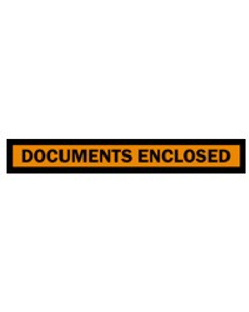 Adhesive Envelopes - DOCUMENTS ENCLOSED - 115mm x 150mm - Clear - 1000/Carton
