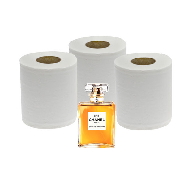 CHANEL N°5 Toilet Paper - 3ply - 250 sheets - 96 Rolls