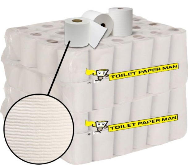 Quilted  Toilet Paper - 2ply 400 Sheets per Roll - 96 Rolls of Toilet Paper - Buy Bulk toilet paper online.