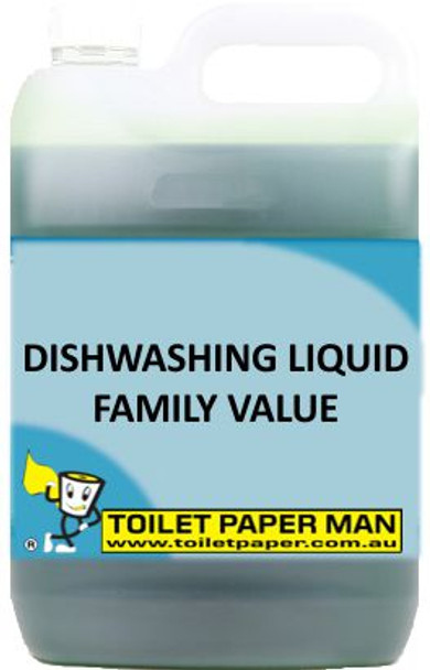 Toilet Paper Man - Dishwashing Liquid - Family Value - 5 Litre - Buy your chemicals online