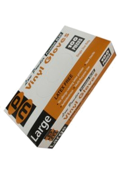 Disposable Vinyl Gloves - Large - 100 per Box - 1 Box