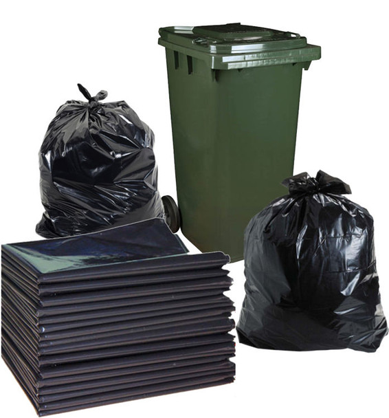 Garbage Bags - 120 Litre Bag - 950mm x 1100mm - 200 Bags