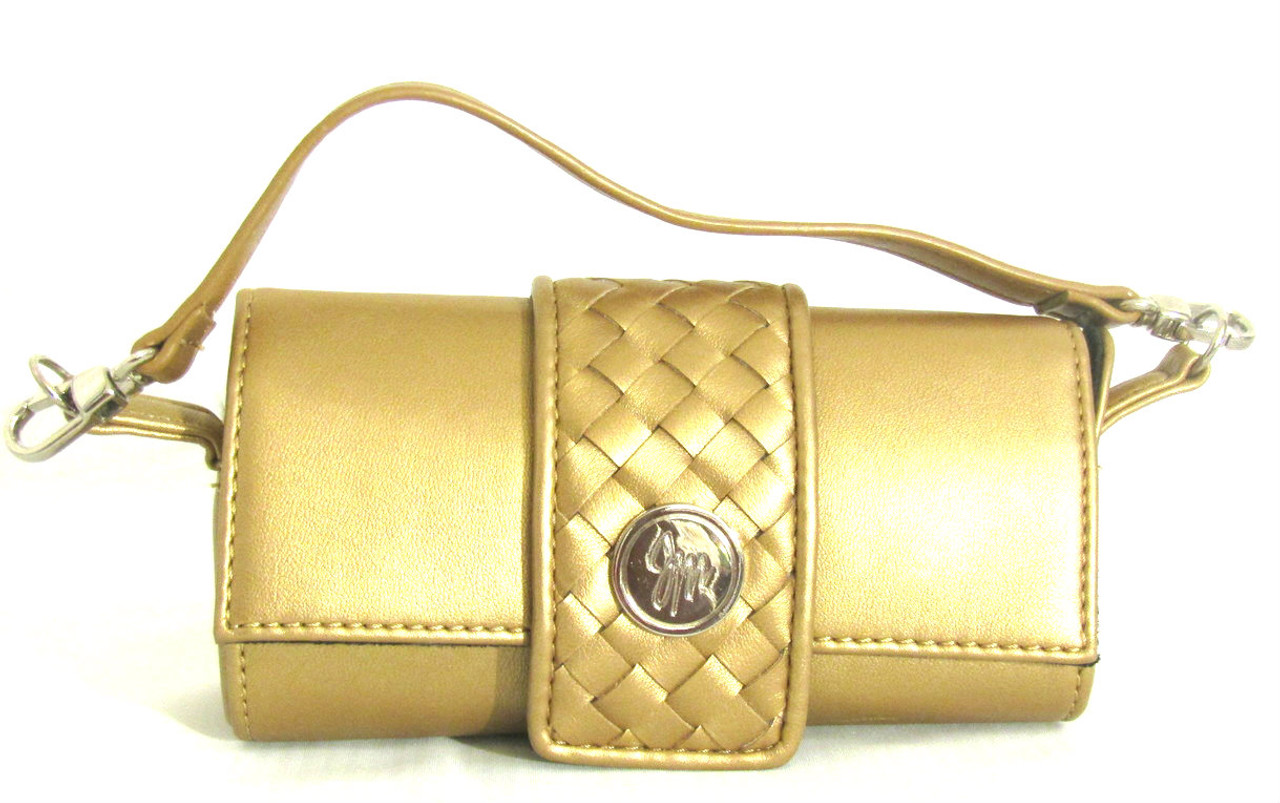 efc1d479bc43d JM Collection Small Golden Cylinder Purse NWOT - Try My Closet