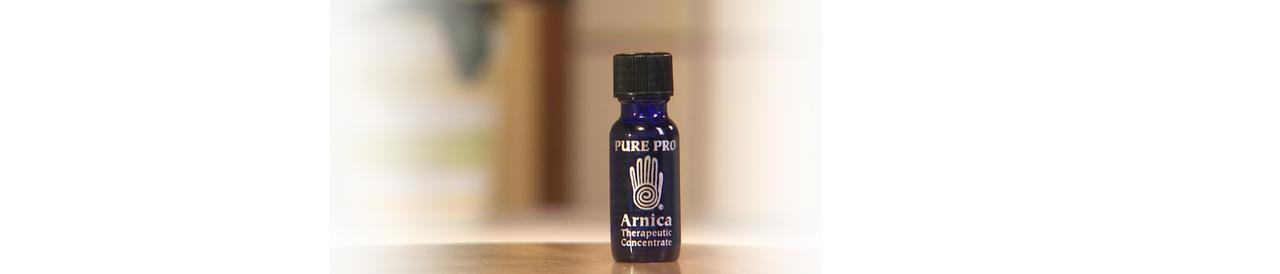 image of blue essential oil bottle
