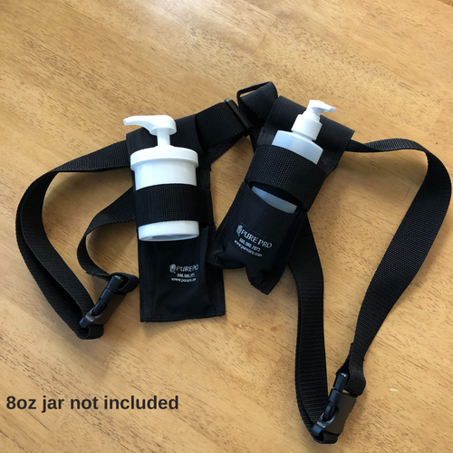 USA MADE! Multi Holster For Cream & Lotion. FREE SHIPPING! Includes Empty 8 oz Pump Bottle (Cream Jar Sold Separately)