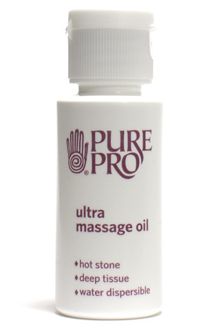Ultra Massage Oil™, Half oz, (sample/travel size) - The Hot Stone Oil - Water Dispersible - Pure Pro: Quality, Professional Massage Products, Esthetician, Chiropractic, Alternative Health & Physical Therapy Supplies from Massachusetts.