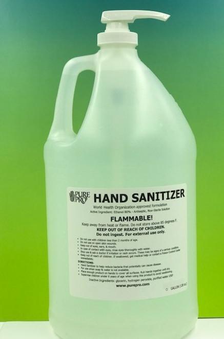 pure pro hand sanitizer GALLON