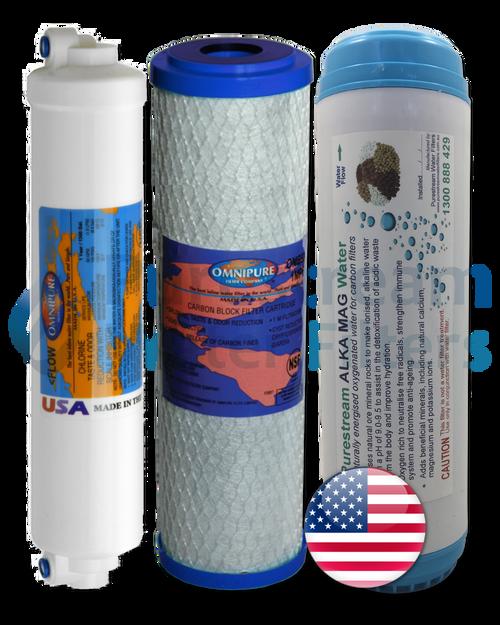 Cartridge Pack (3) Triple Undersink Alkaline - 2 Yearly