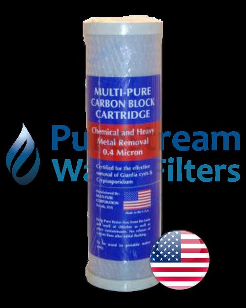 "0.4 Micron 10"" x 2.5"" Carbon Block (Multipure) - USA"