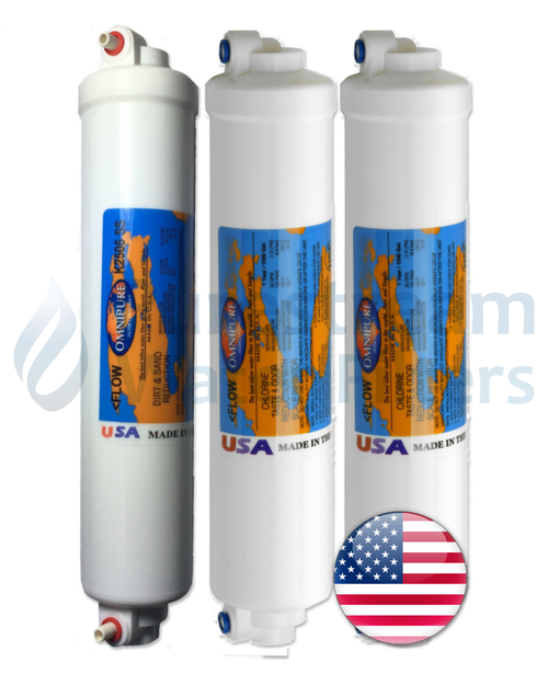 Cartridge Pack (3)  Reverse Osmosis 4 Stage (Compact)