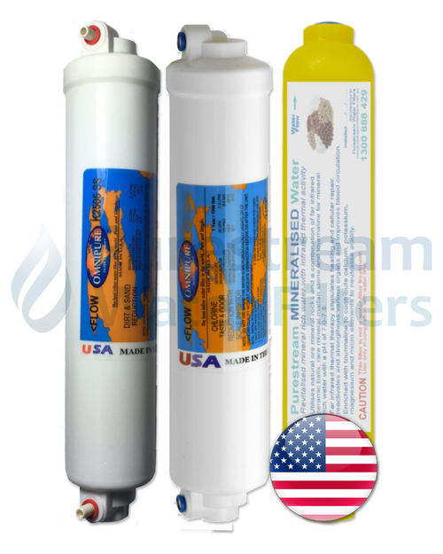 Cartridge Pack (3) Countertop Reverse Osmosis (with Mineraliser)