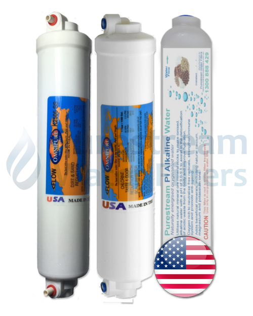 Cartridge Pack (3) Countertop Reverse Osmosis (with Pi Alkaliser)