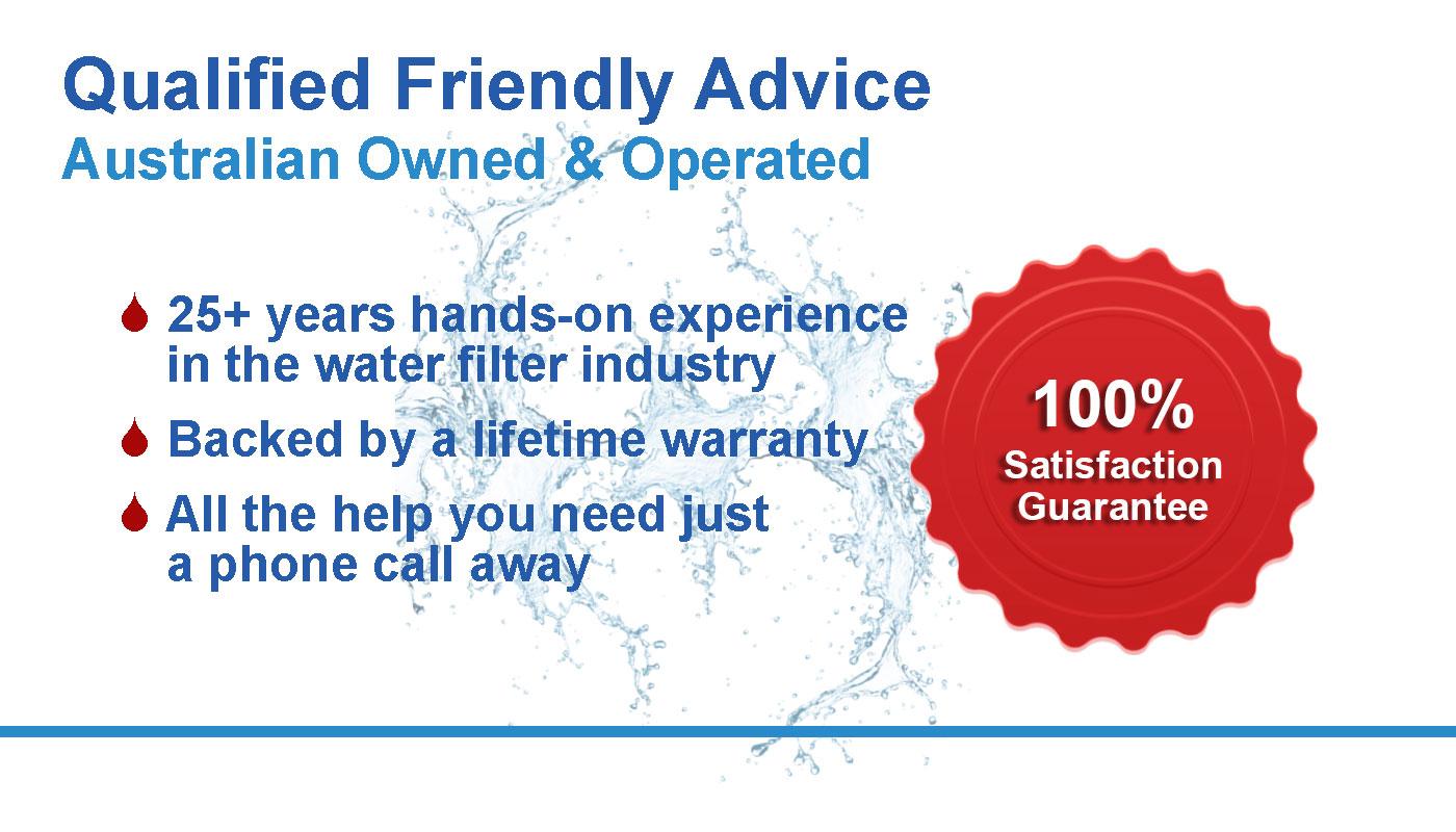 Banner describing our experience and 100% satisfaction guarantee