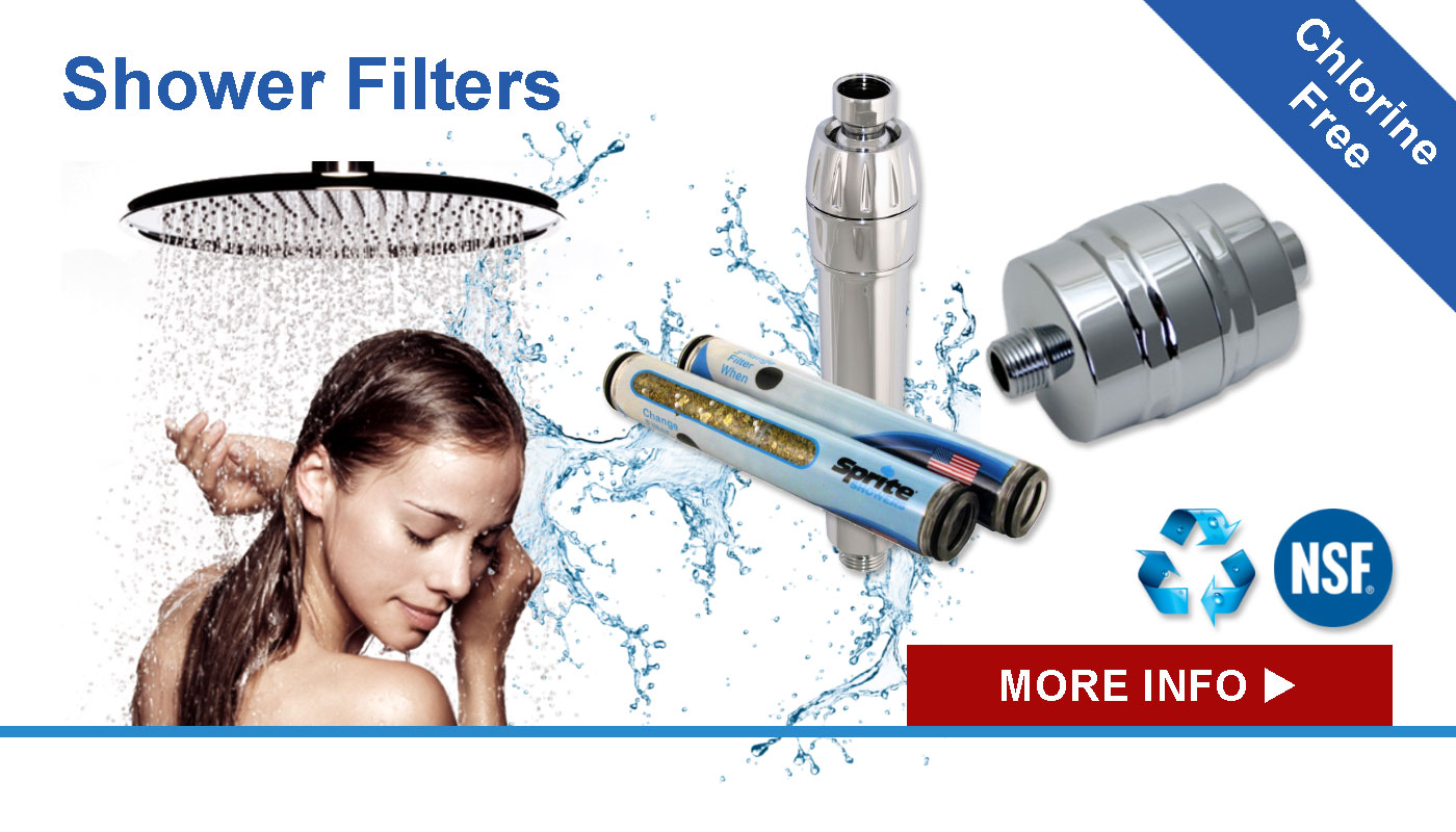 Banner showing our range of shower filters