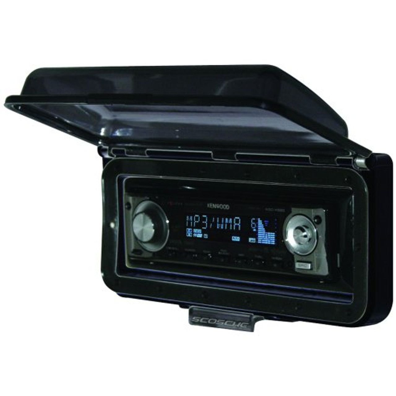 New Scosche Radio Splash Proofe Stereo Cover For Car Marine ATV Stereo  Weather Shiled (BLACK) ACM3B