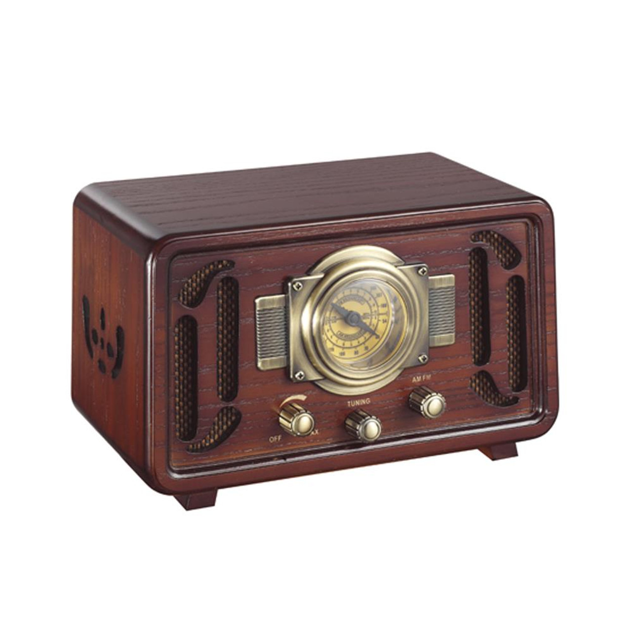 New Pyle Punp34bt Vintage Retro Classic Style Bluetooth Radio Sound