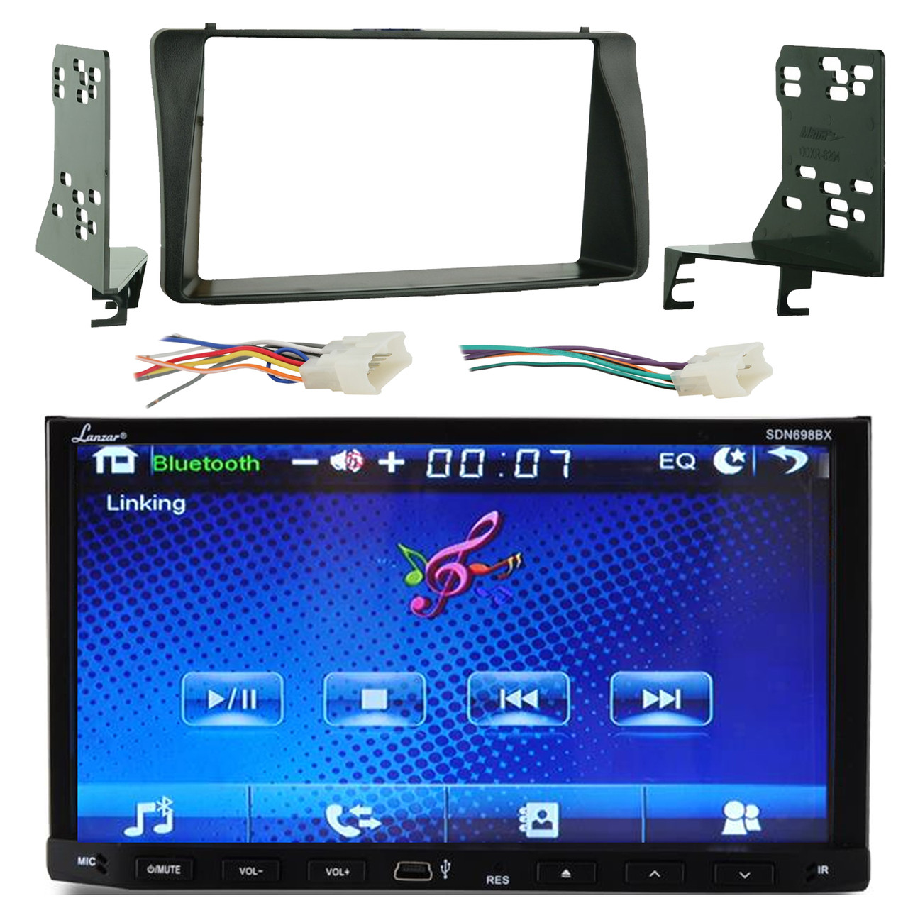 Lanzar SDN698BX 7'' Double DIN TFT Motorized Slide-Down Panel Touch on battery harness, electrical harness, maxi-seal harness, suspension harness, radio harness, oxygen sensor extension harness, amp bypass harness, pet harness, obd0 to obd1 conversion harness, dog harness, swing harness, nakamichi harness, pony harness, cable harness, fall protection harness, safety harness, alpine stereo harness, engine harness,
