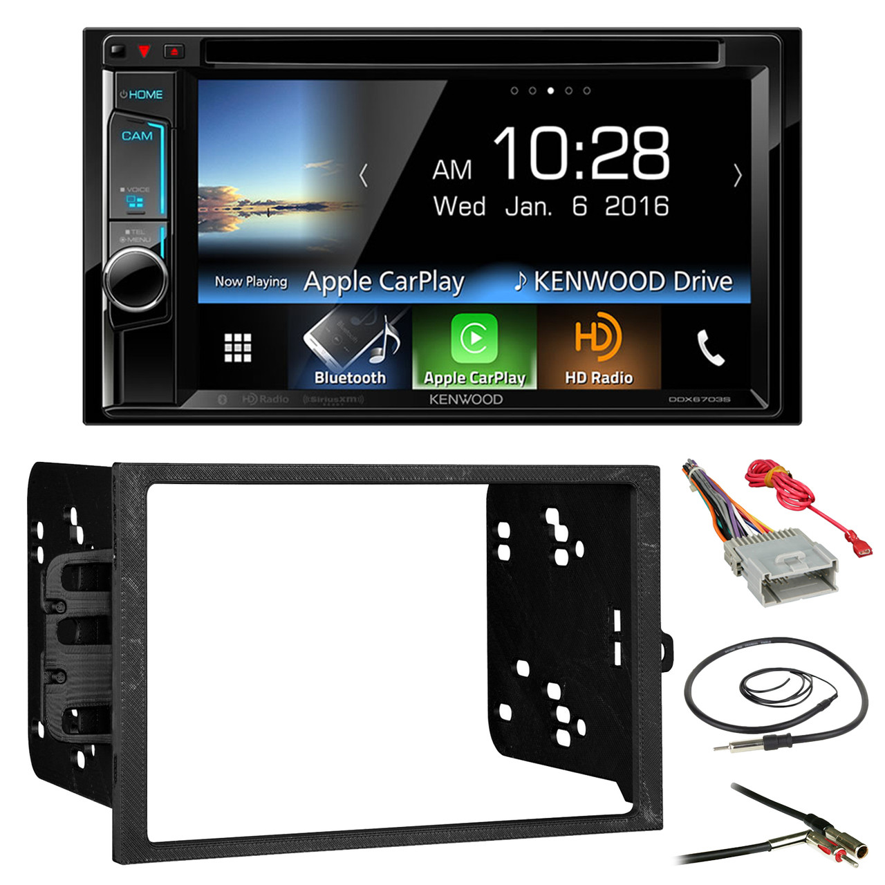 Kenwood Ddx6703s 6 2 Double Din Cd Dvd Bluetooth Car Stereo