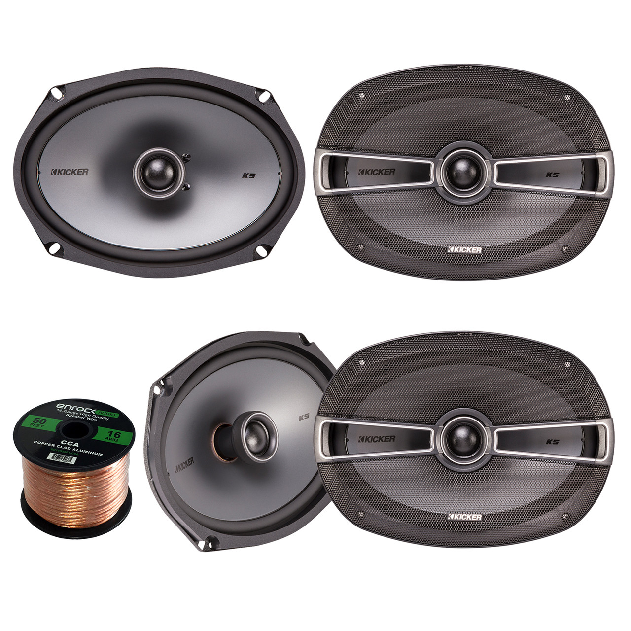 Car Stereo Speaker Set Bundle Combo With 4x Kicker 41ksc694 6x9