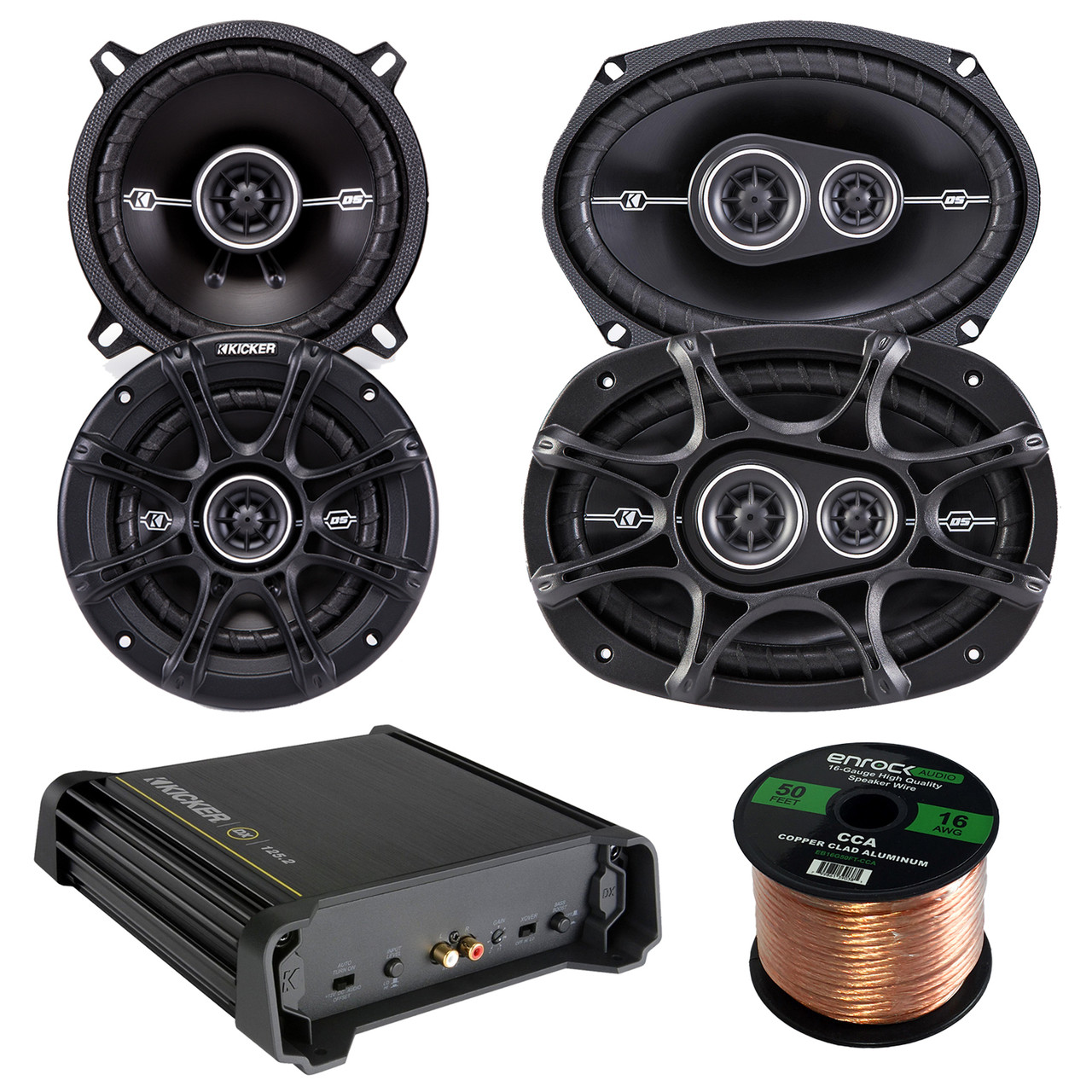 6 x 9 D-Series Coaxial 3-Way Speaker With 1//2 Tweeter And 2 Mid 41DSC6934 Kicker DSC693