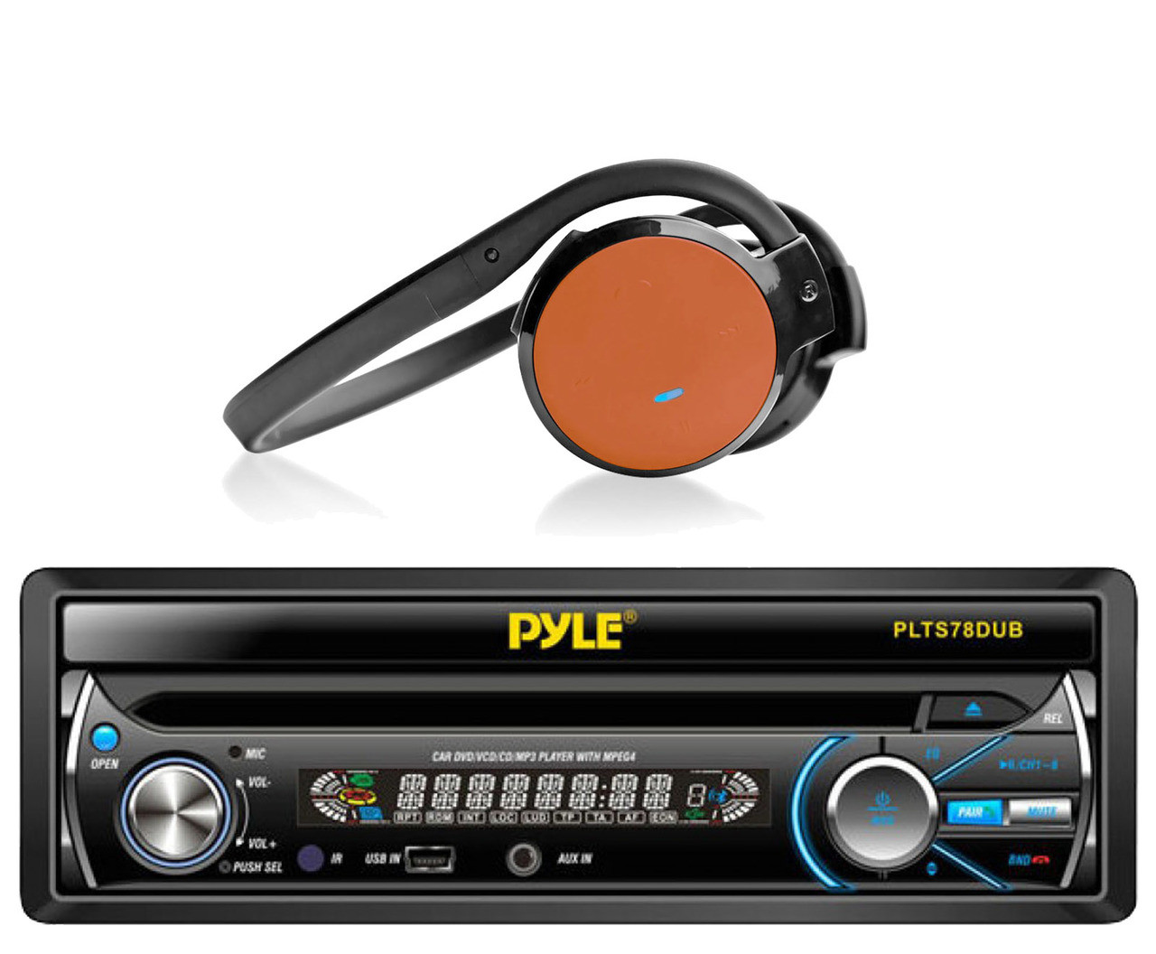 Cd Rek Accessoires.Pyle 7 Single Din Cd Bluetooth Mp3 Usb Am Fm Radio Orange