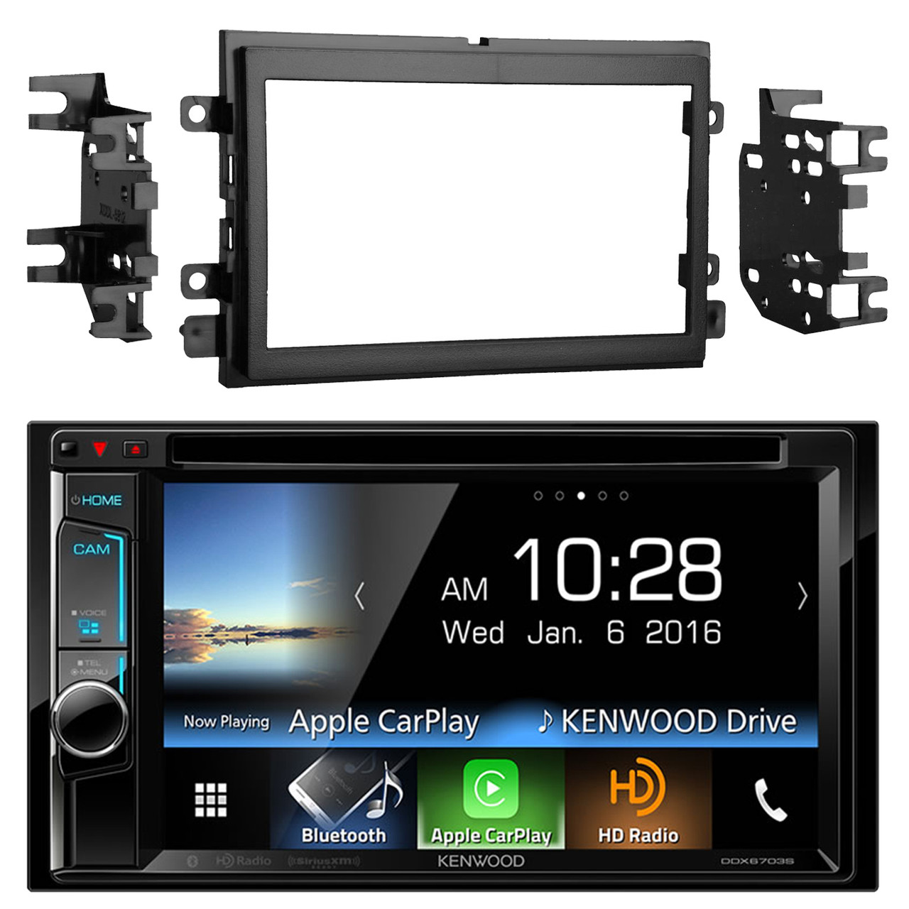 Kenwood Ddx6703s 6 2 Inch Touchscreen Double Din Cd Dvd Player Car