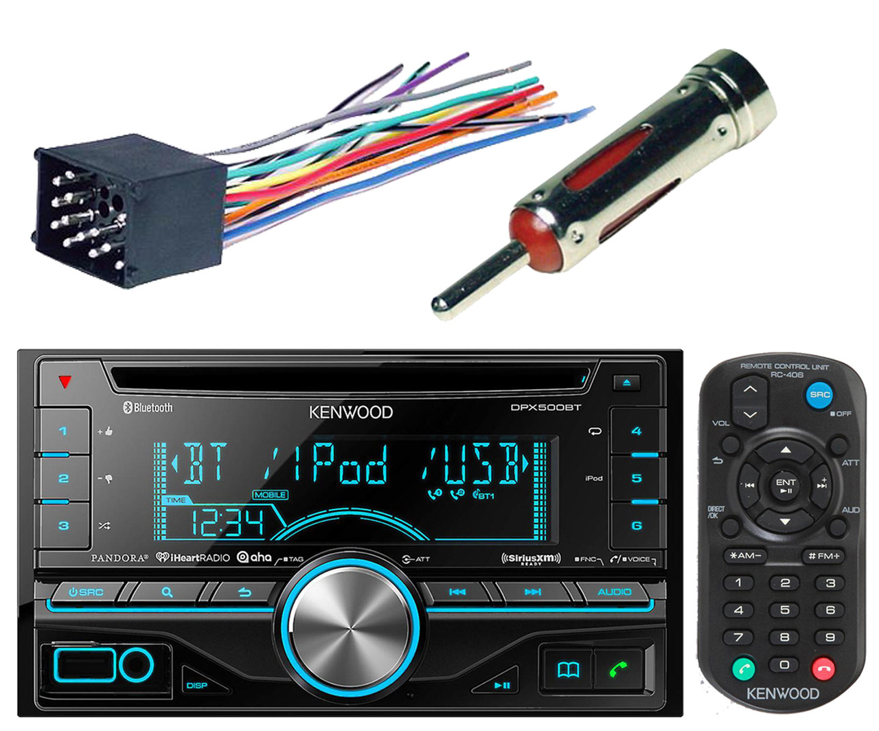 wire harness, double din usb cd aux car radio  road entertainment