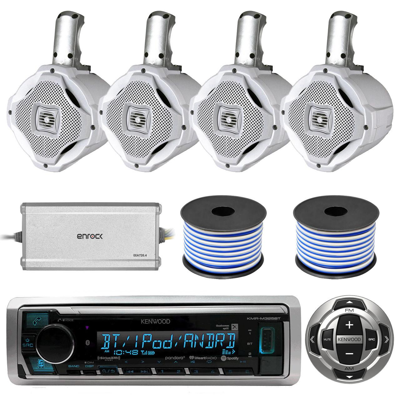 4-Channel Marine Amplifier,4 Marine 6.5