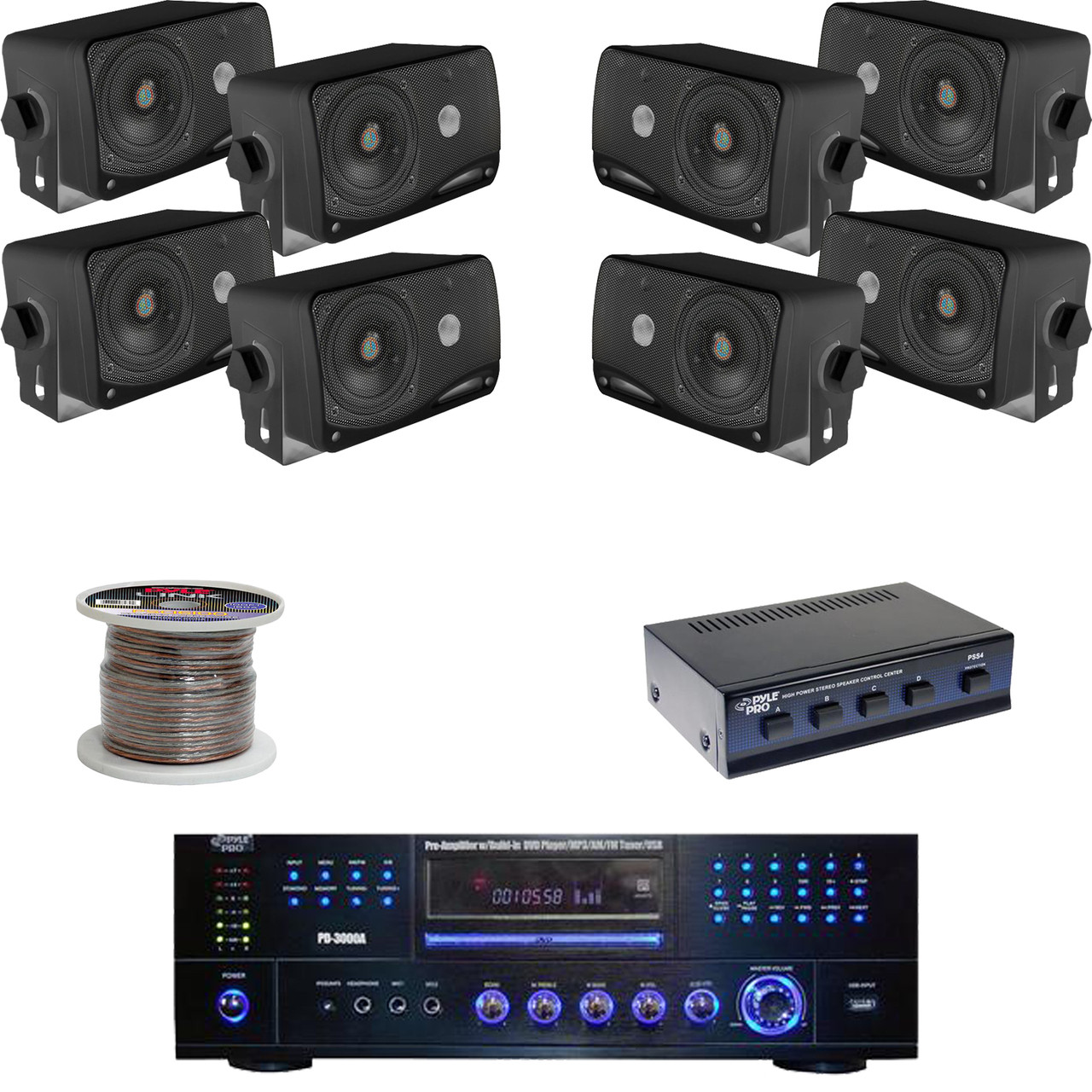 4 Way Speaker Selector Box