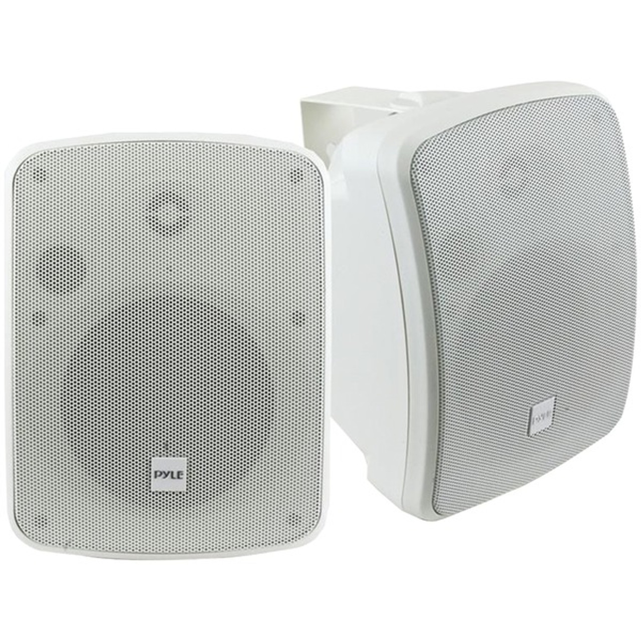 Pair White New Pyle Waterproof Bluetooth 5.25/'/' Indoor//Outdoor Speakers 600W