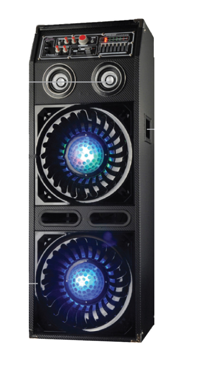 New Pyle - PSUFM1070P , Sound and Recording , PA Loudspeakers - Cabinet  Speakers , Disco Jam 2 Passive Powered Speaker System, Flashing DJ Lights,