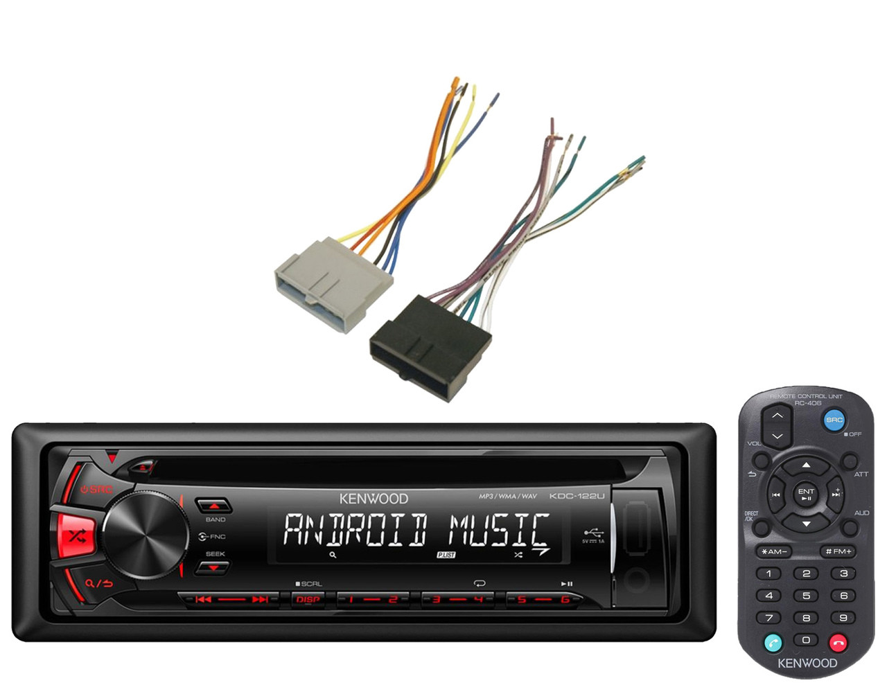 Antenna Adapter &Installation Wire Harness,Kenwood USB CD AM FM Mp3 on