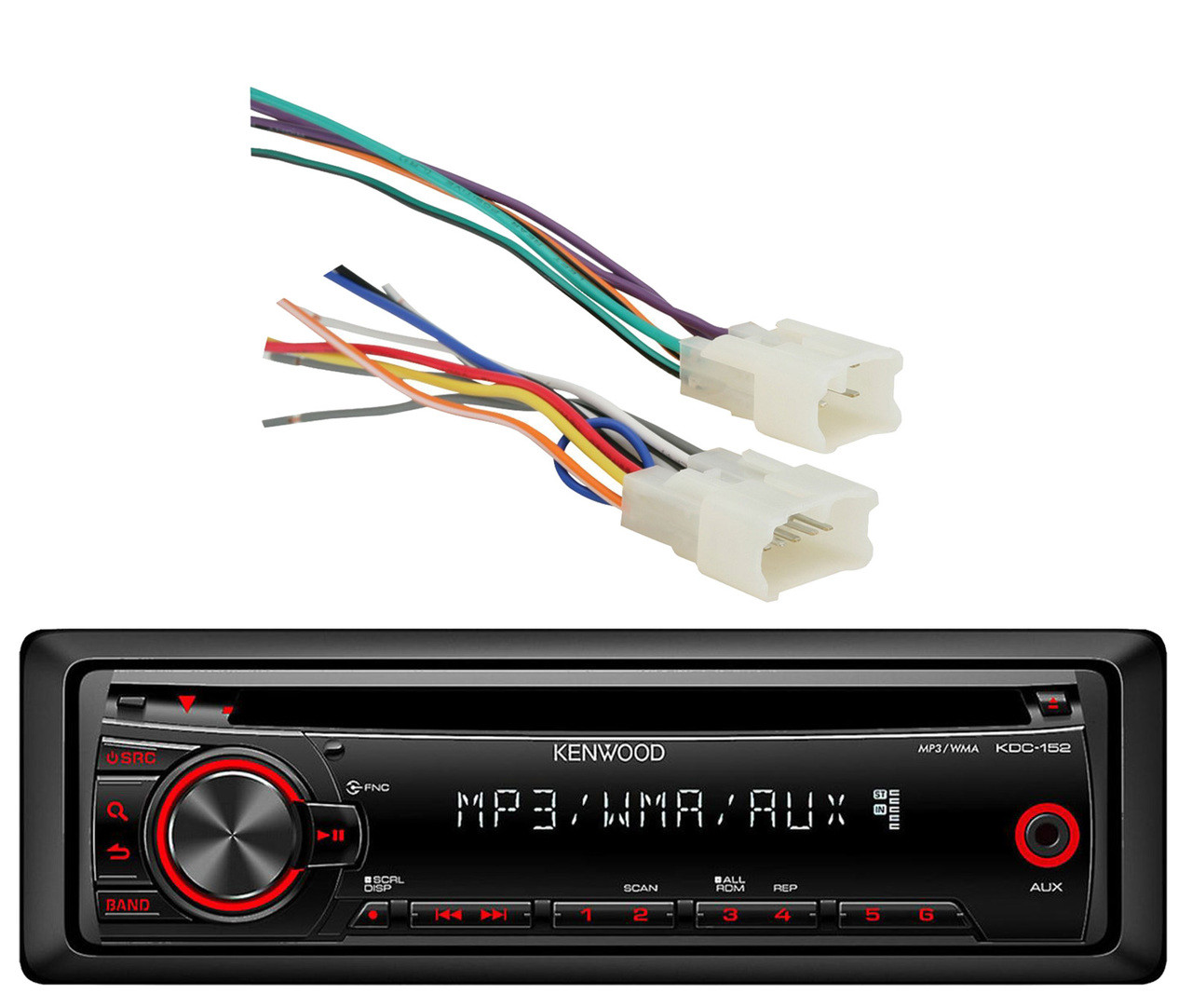 Kenwood InDash CD Mp3 AUX Car Stereo Receiver,70-1761 Metra Toyota on kenwood kdc 138 wire harness, 152 wiring harness, kenwood 152 cd player, kenwood kdc-152 manual,