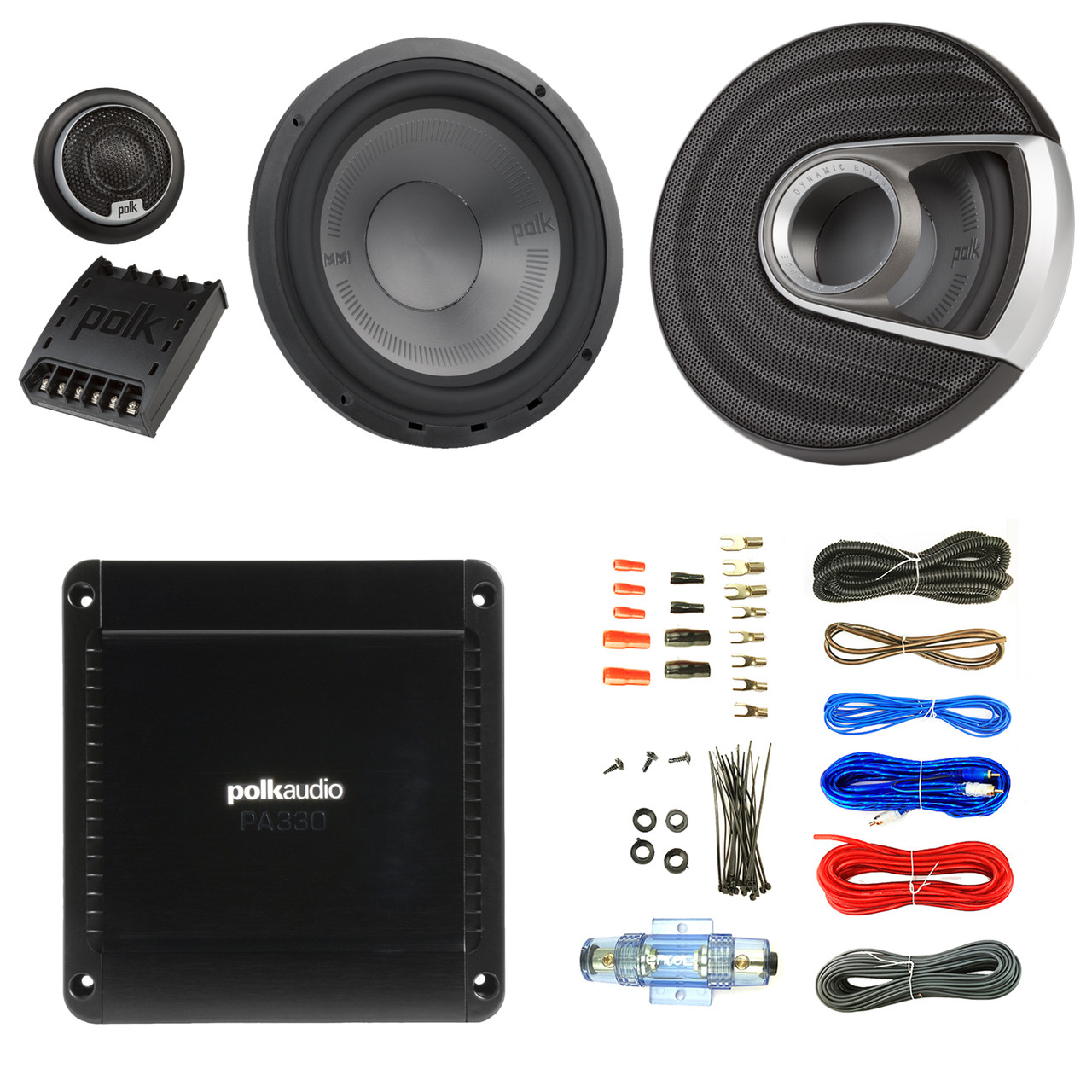 2x polk audio mm1 mm6502 series 375w ultra-marine certified 6 5