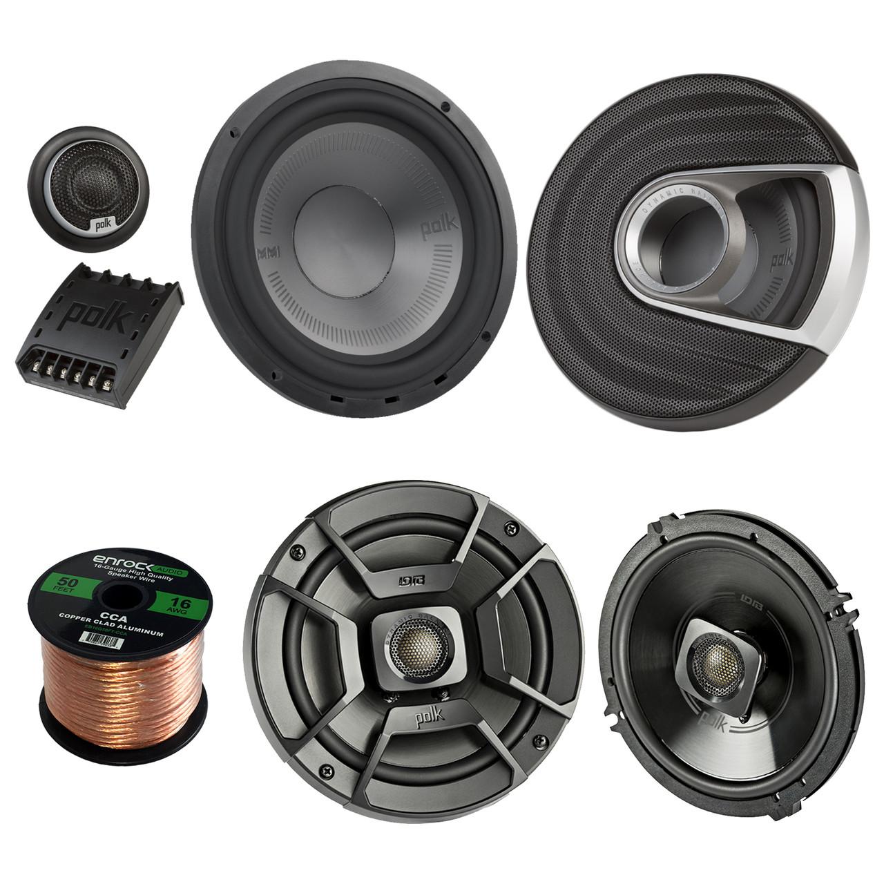 "2X Polk Audio MM1 Series 375W Ultra-Marine Certified 6.5/"" Component Speakers"
